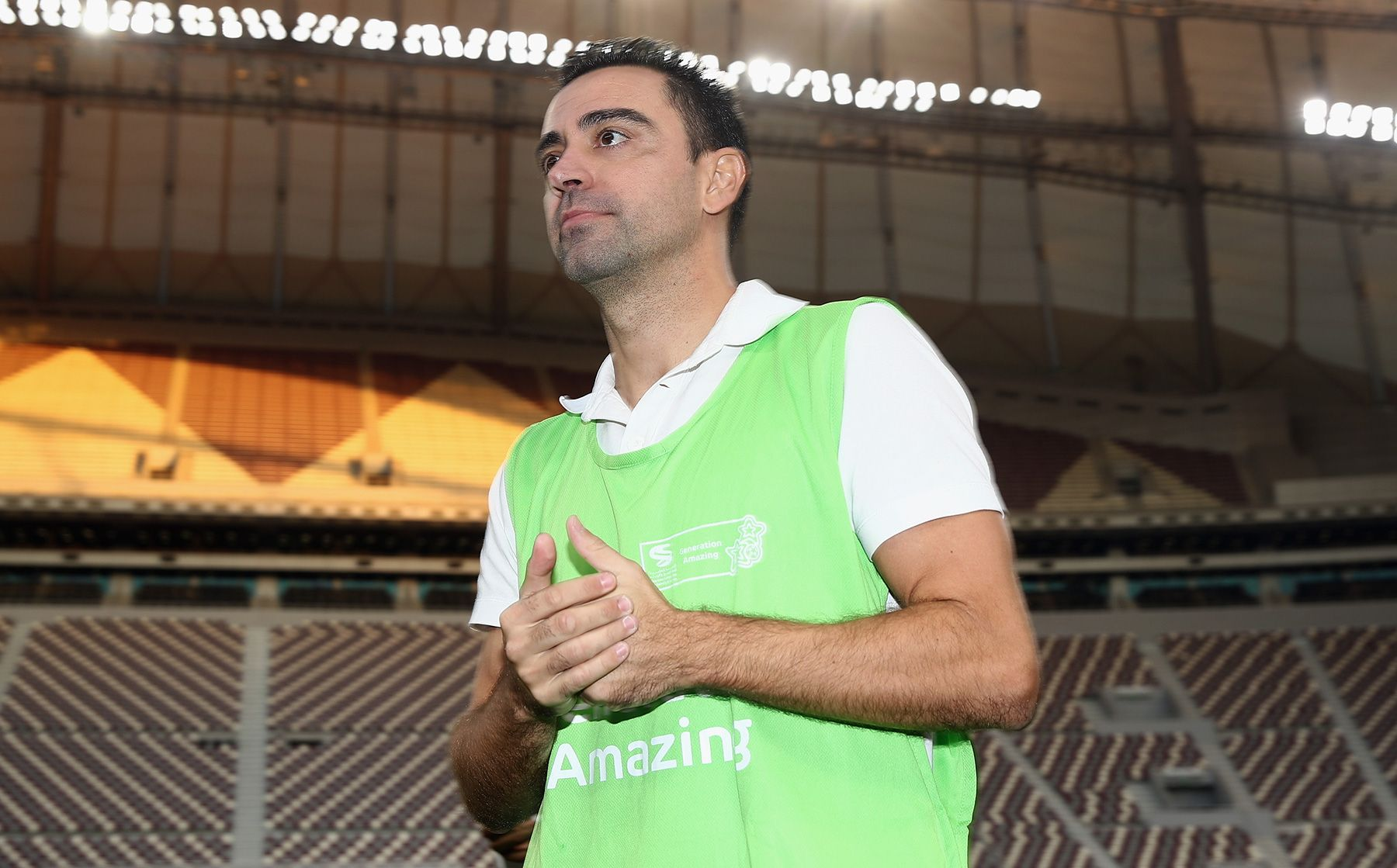 new product c3c36 c1b19 Xavi debuts like manager with a tie in Palamós