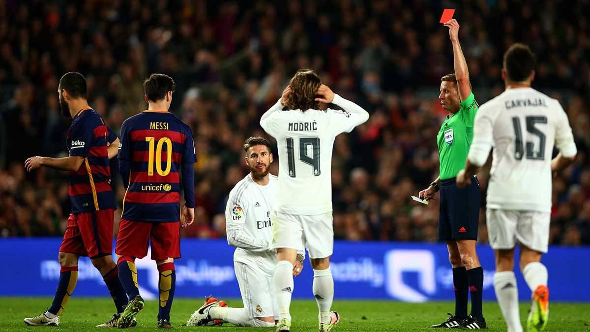 """Sergio Ramos: """"Si lo llego a saber me expulso en el minuto cinco"""" <p>�</p>"""