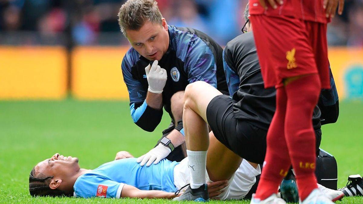 Problemas para el Manchester City: Leroy Sané se rompe el...