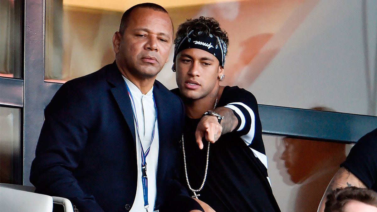 Image result for neymar and his father at psg