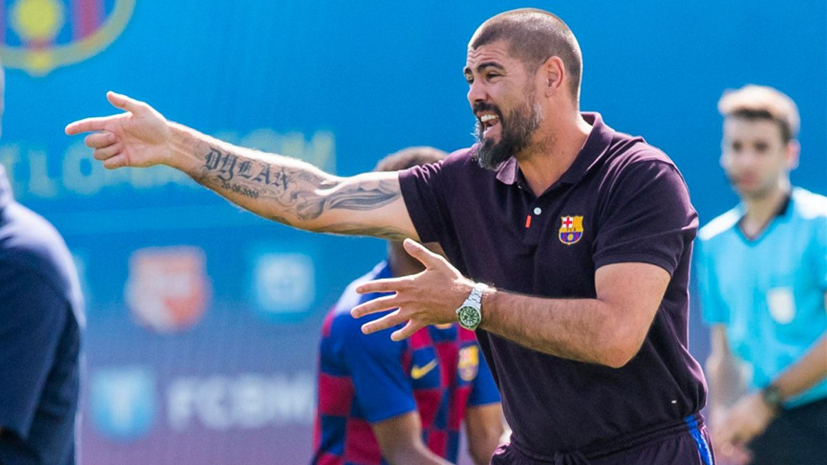 Image result for when was Valdes appointed as barcelona youth coach