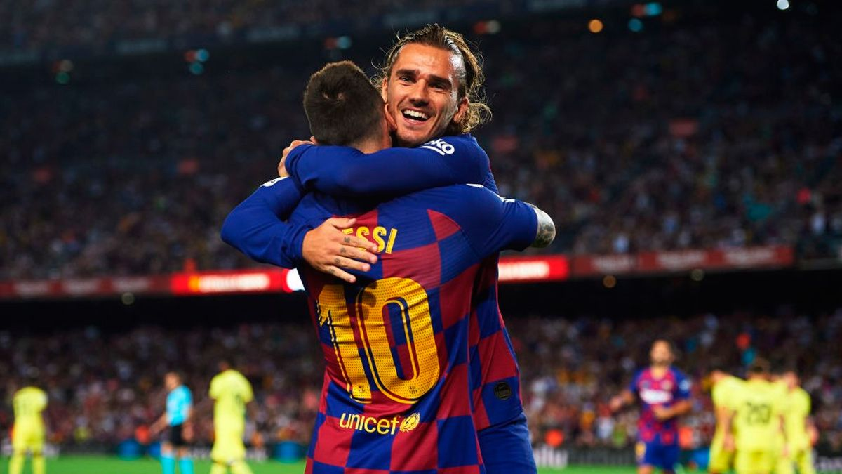Image result for Messi and Griezmann