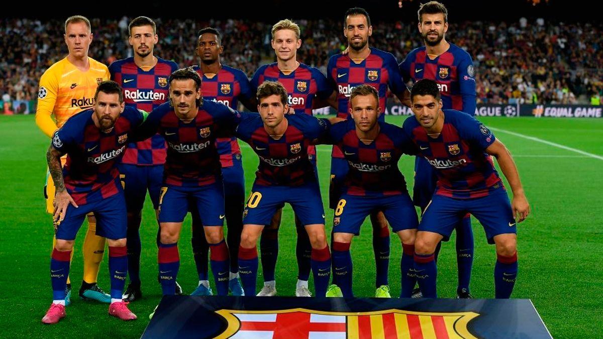 los 11 jugadores del barcelona