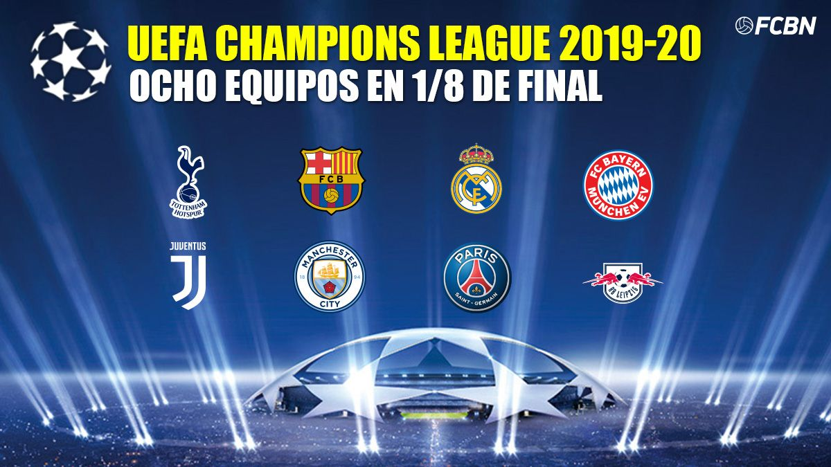 these are the eight first clubs classified for the eighth of champions league champions league