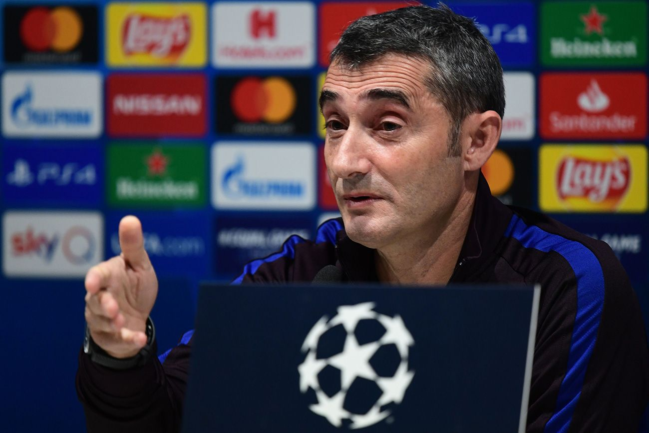 Image result for valverde and messi conference