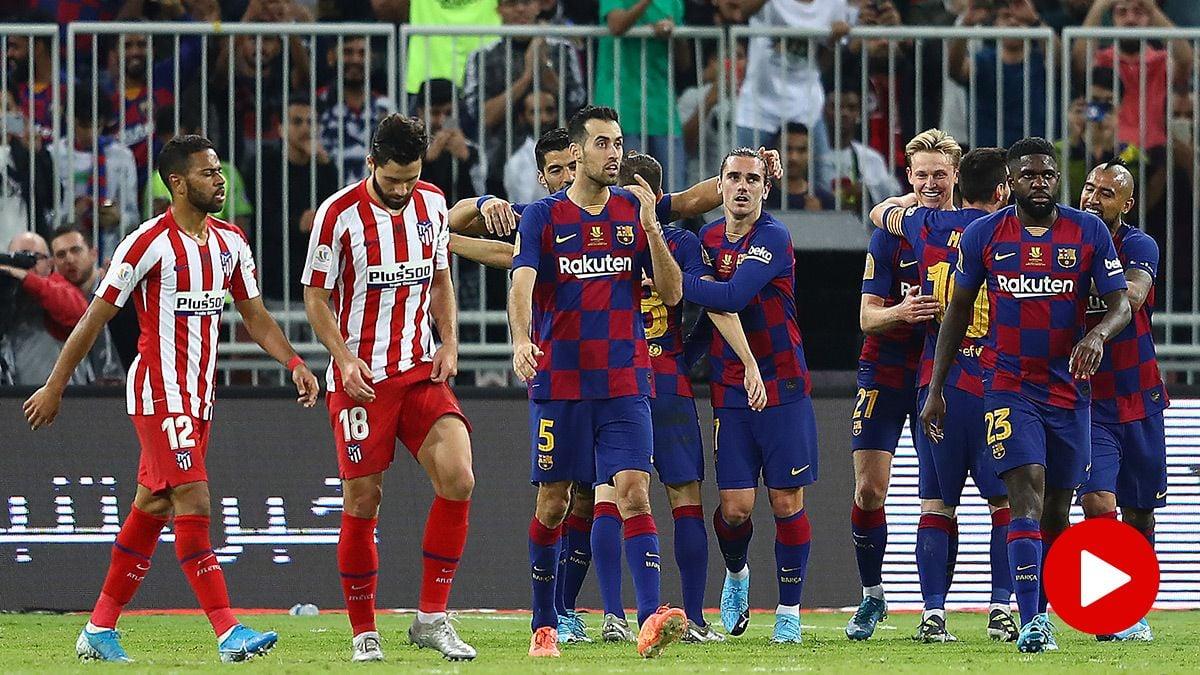 Video Summary Fc Barcelona 2 Atletico 3 Supercopa Of Spain