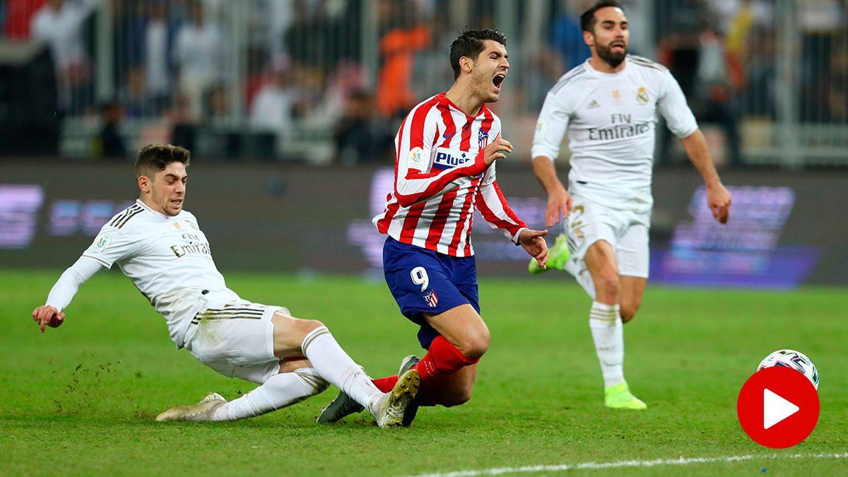 Fede Valverde y su patada a Morata