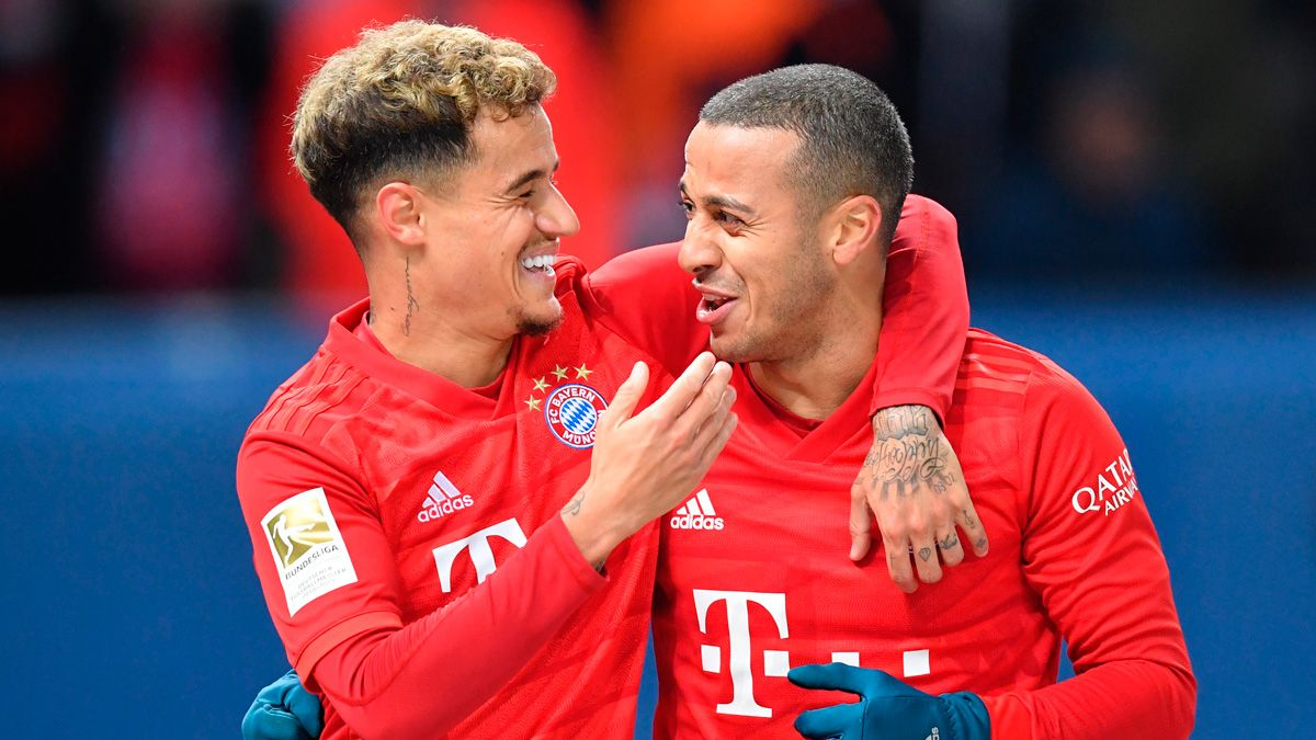 Thiago praises Coutinho and bets on his continuity in Bayern