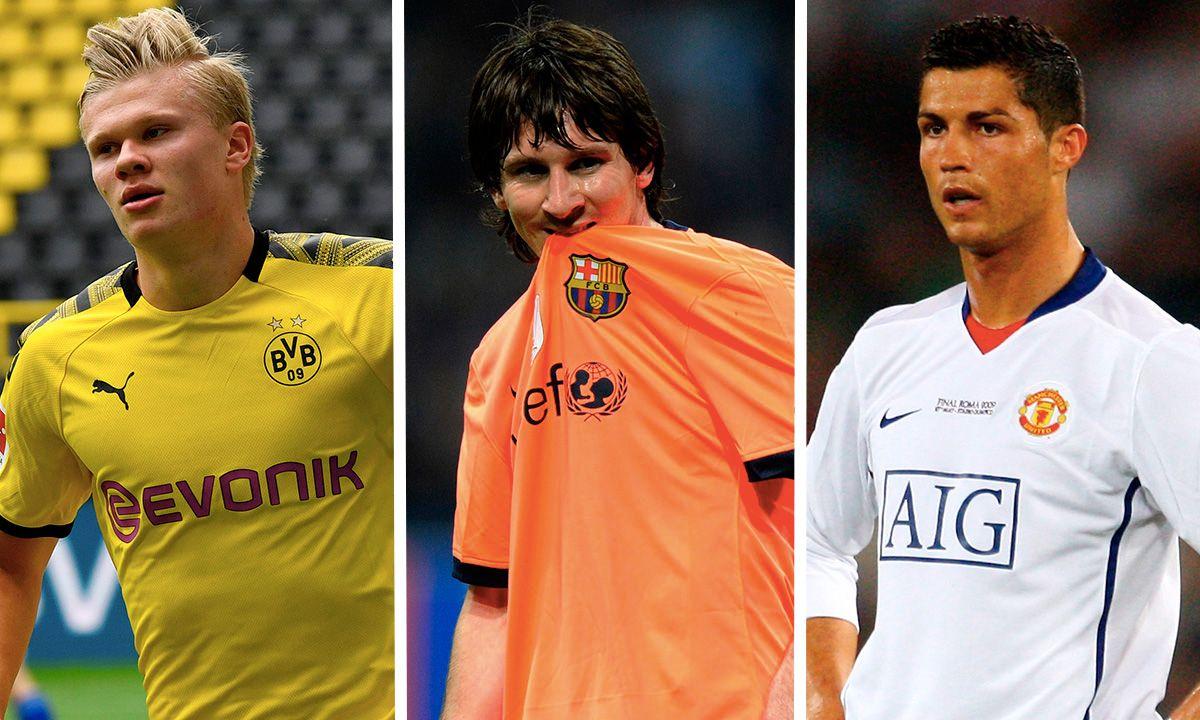 Haaland Messi Ronaldo