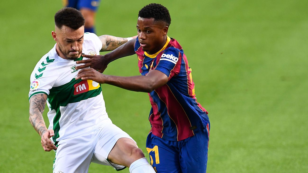 Ansu Overtakes Dembele And Points To Koeman S Barca Eleven