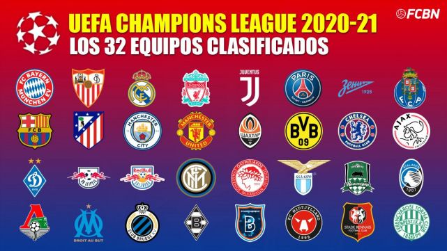 these are the 32 clubs qualified for the 2020 2021 champions league 2020 2021 champions league