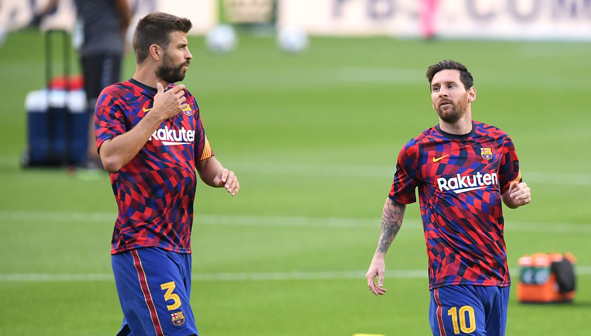 Lo que Gerard Piqué le dijo a Leo Messi cuando quiso irse