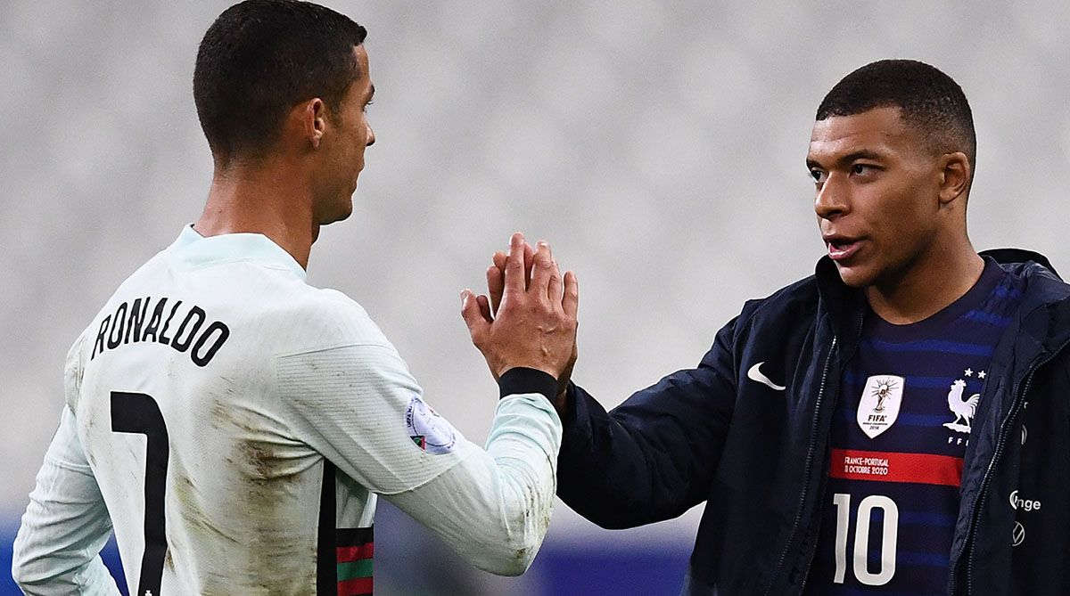 The images of Cristiano Ronaldo with Mbappé that ilusionan to the merengues