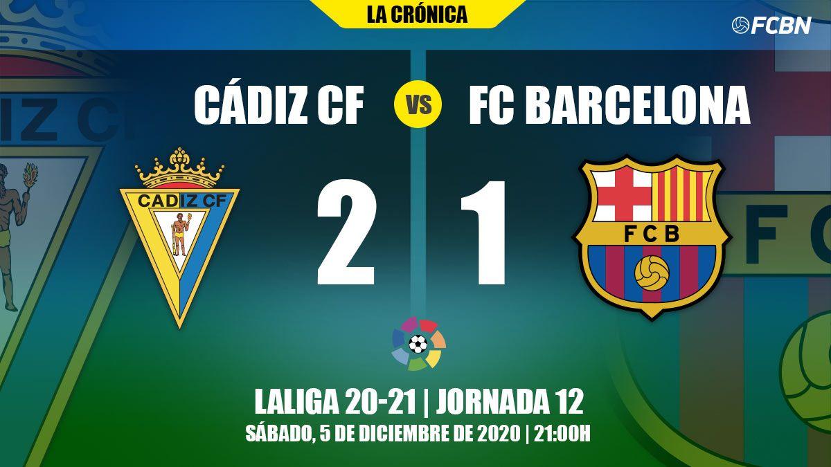 El Barça luchó, pero cayó ante el Cádiz en el Carranza (2-1)