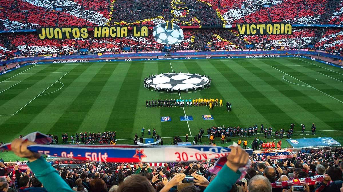 El Calderón, en un Atlético-Barcelona de Champions.