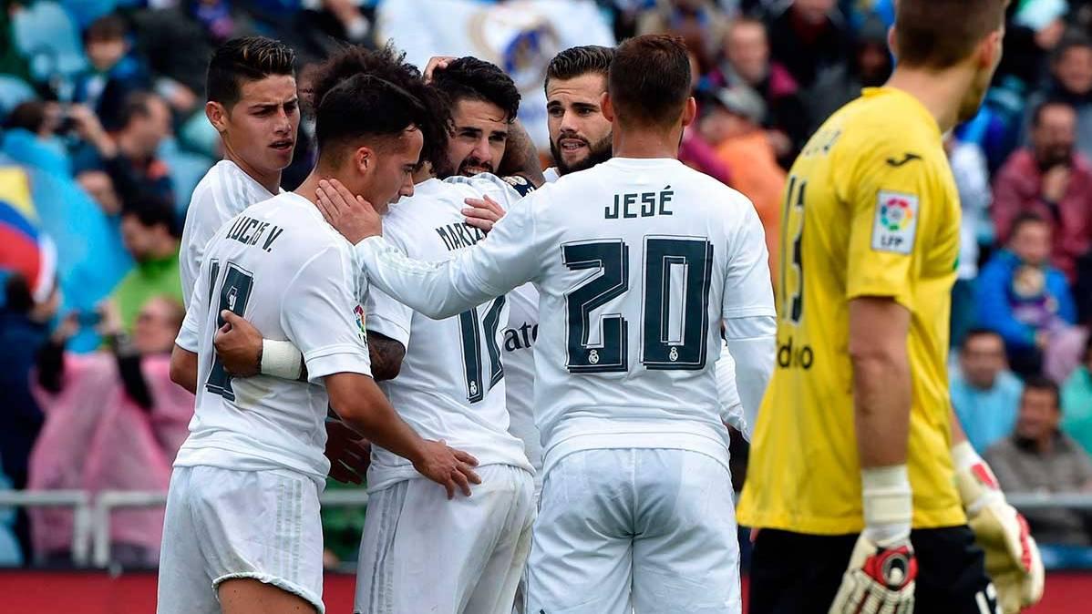 El Real Madrid abusa del Getafe y mete presión (1-5)