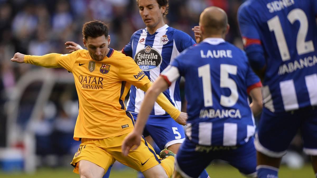Leo Messi firm� una nueva actuaci�n brillante en Riazor