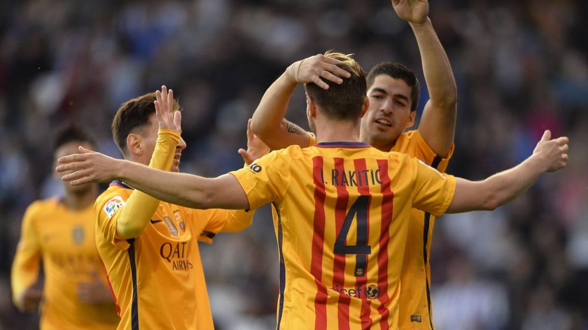 Rakitic volvi� a marcar y ya es el cuarto goleador del Bar�a