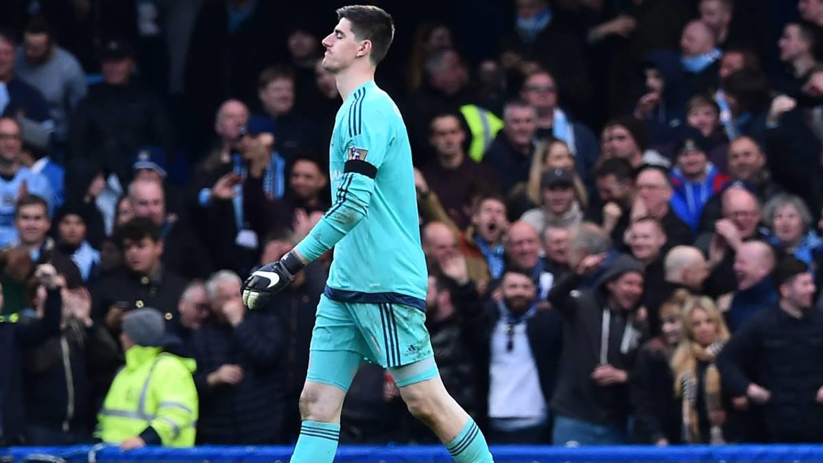Thibaut Courtois, en un partido de esta temporada con el Chelsea