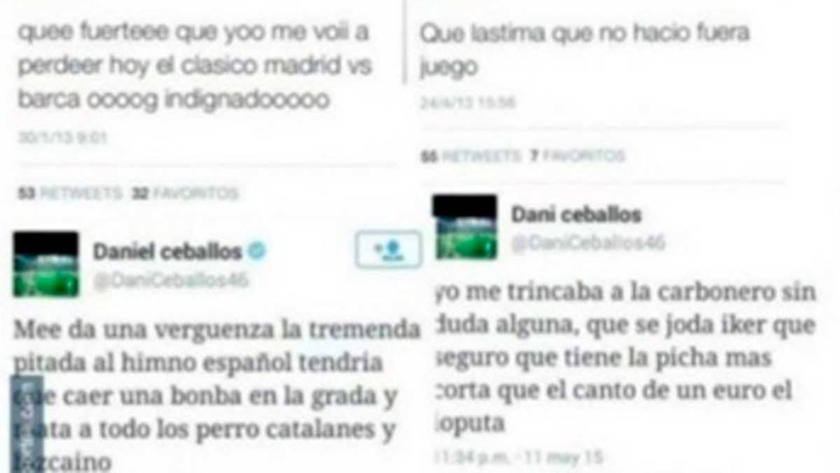 Los improperios de Dani Ceballos a trav�s de su Twitter