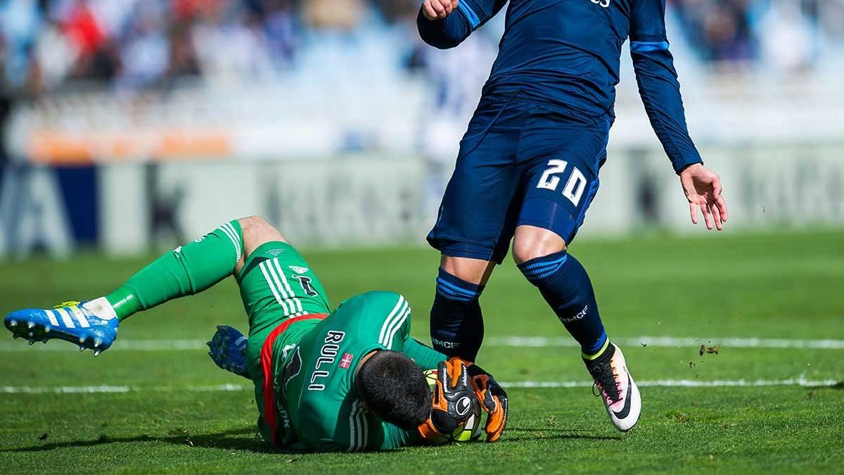 Rulli, durante un momento del partido frente al Real Madrid