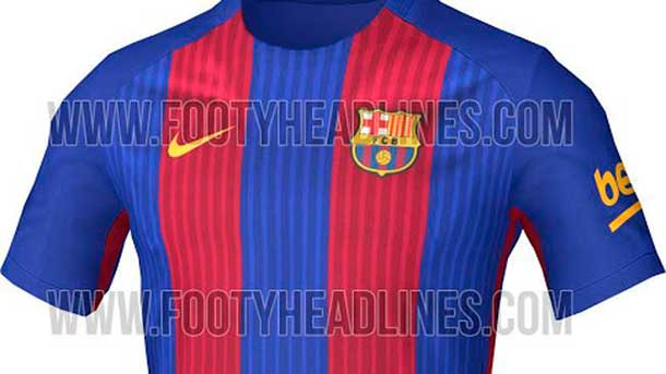 It Will Be This The New T Shirt Of The Fc Barcelona 2016 2017