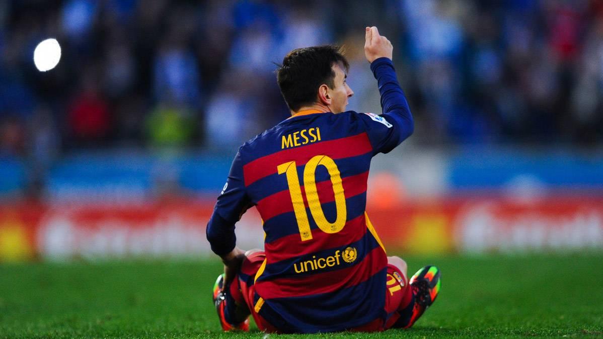 Messi, molesto por los arbitrajes de los colegiados de Liga