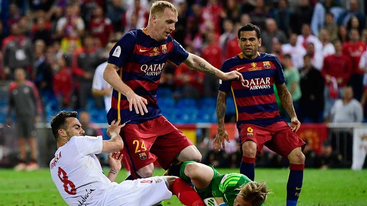 Mathieu se gan� seguir tras su partidazo ante el Sevilla