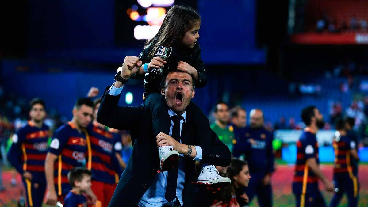 """As� celebrar� el FC Barcelona el """"doblete"""" con su hinchada"""