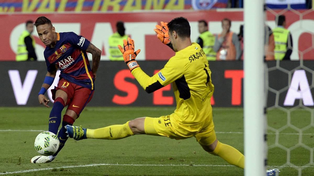 Neymar puede ganar el premio al mejor gol del a�o en Copa