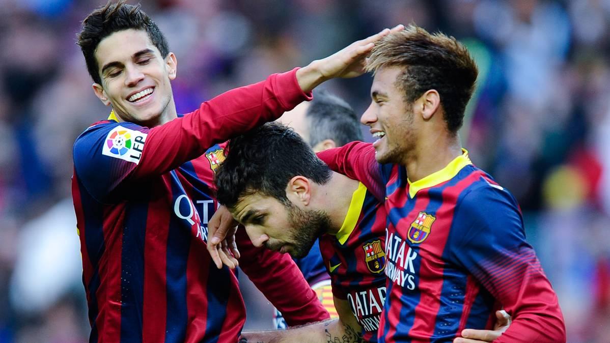 Cesc apoya la decisi�n de Bartra de dejar el Barcelona
