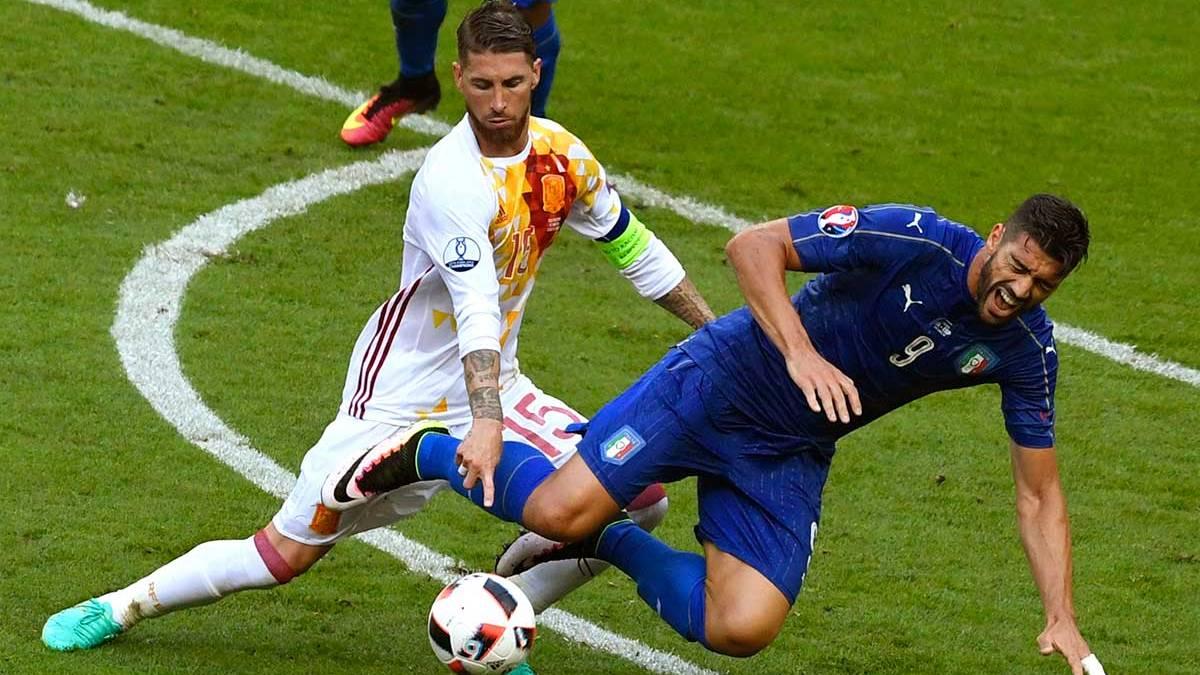 Sergio Ramos, se�alado con Espa�a tras una Euro horrible
