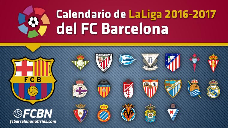 Calendario Del Barcelona.Este Es El Calendario De Liga 2016 17 Del Fc Barcelona