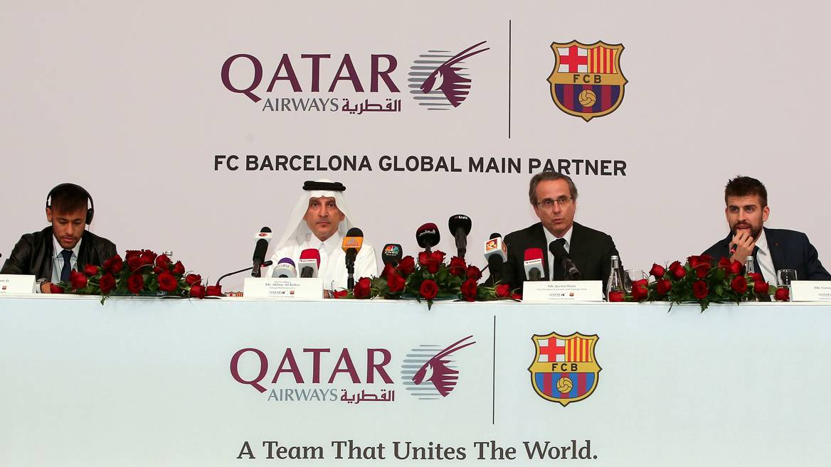 """Qatar puede acabar poniendo """"apellido"""" al Camp Nou"""