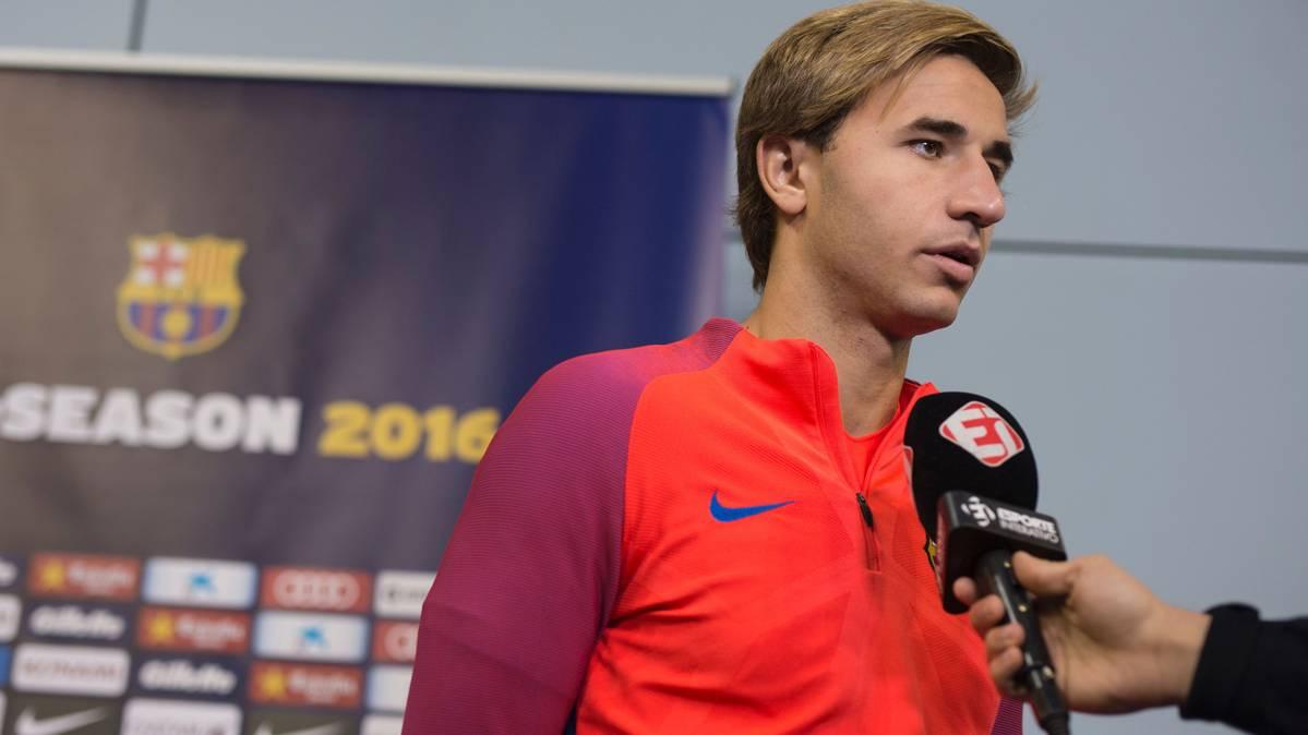 Samper asume que puede salir cedido del FC Barcelona