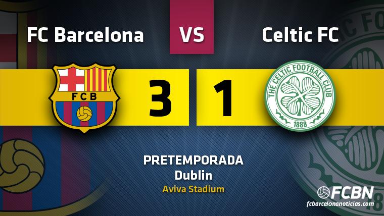 El Bar�a empieza la pretemporada goleando al Celtic (3-1)