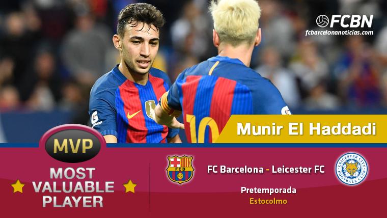 """Munir El Haddadi, el """"MVP"""" del FC Barcelona-Leicester"""