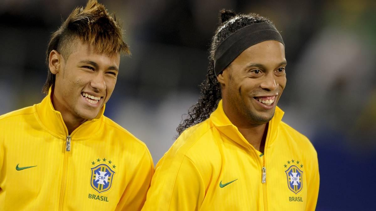 Neymar est� a un paso de superar a Ronaldinho en Champions