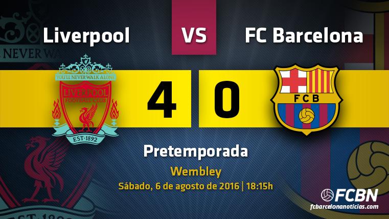 El FC Barcelona, transparente contra el Liverpool (4-0)