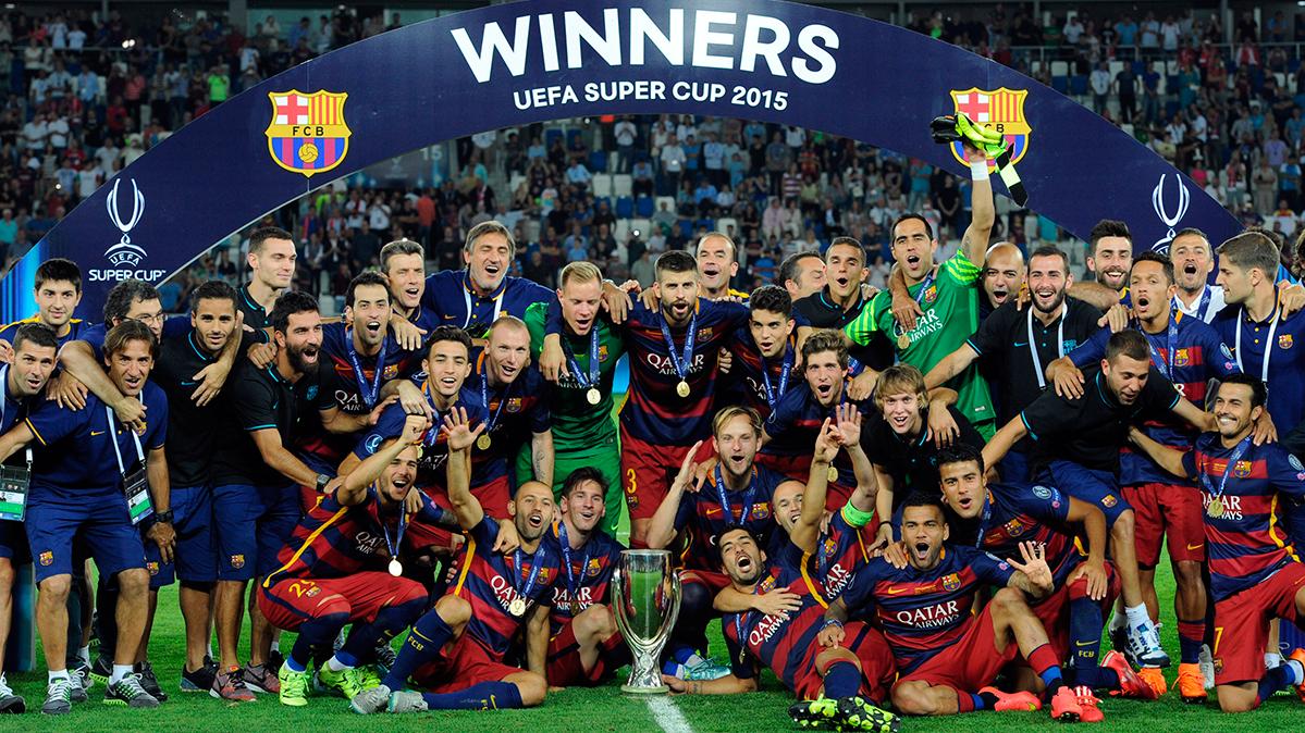 El Barça sigue siendo el club con más Supercopas de Europa