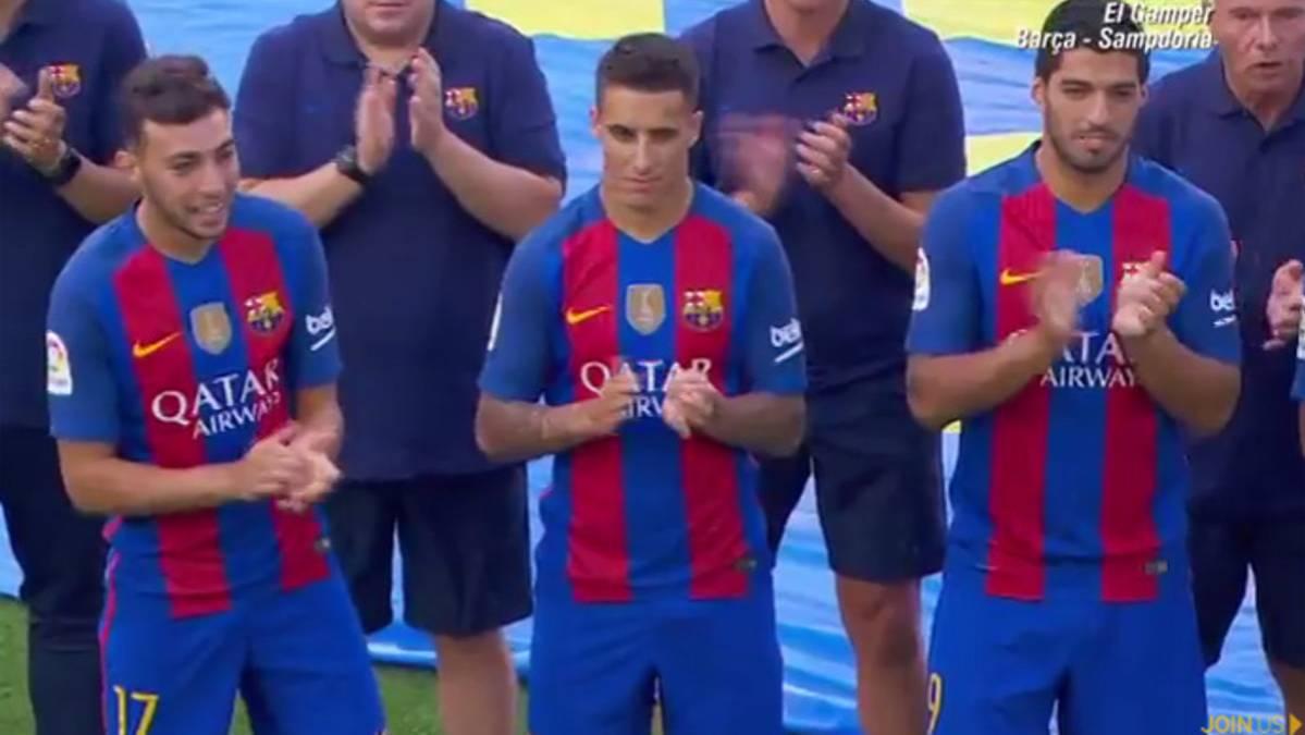 �Cristian Tello fue presentado por el Bar�a sin dorsal!