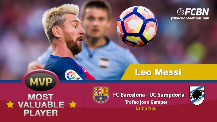 Leo Messi, MVP del FC Barcelona-UC Sampdoria