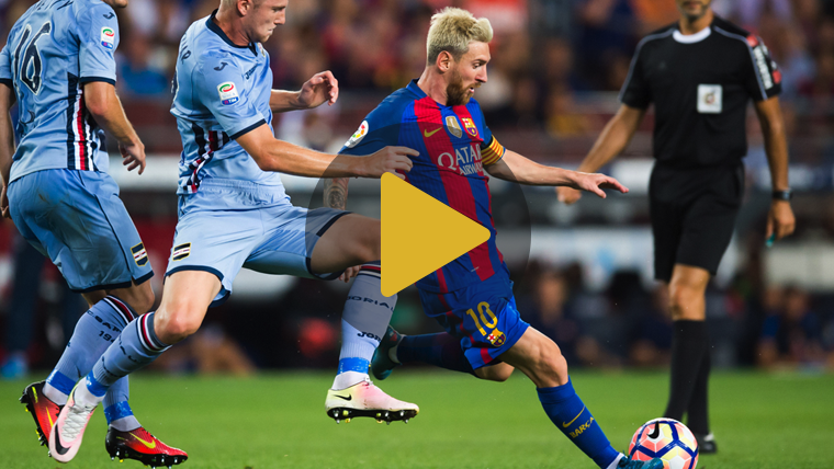 Video resumen: Barcelona 3 Sampdoria 2 (Pretemporada)