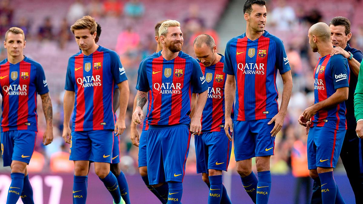 """Los cracks culés celebraron """"la noche perfecta"""" en el Camp Nou"""