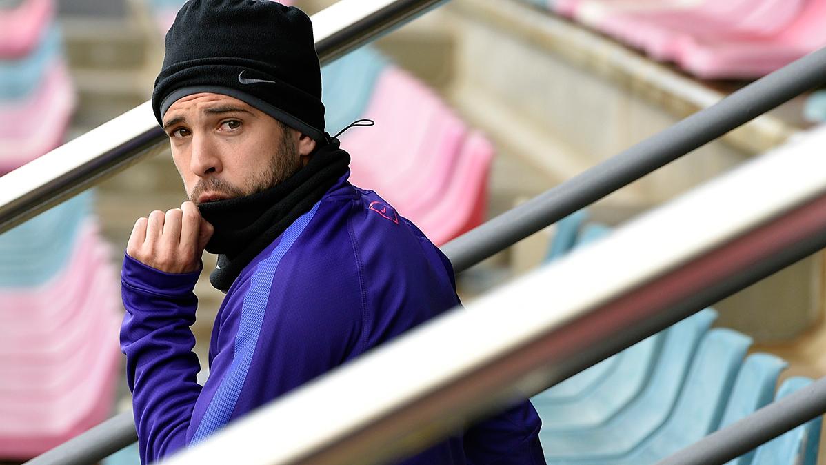 Jordi Alba adelanta su recuperación y ya corre