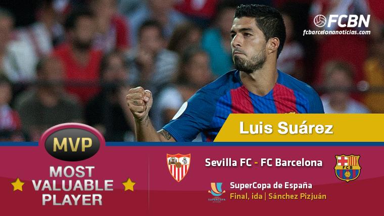 """Luis Su�rez, el """"MVP"""" del Sevilla-FC Barcelona"""