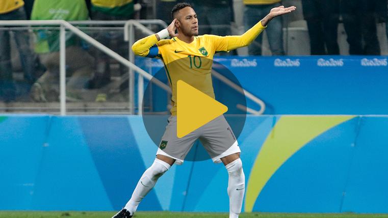 Los cinco regates favoritos del cul� Neymar J�nior