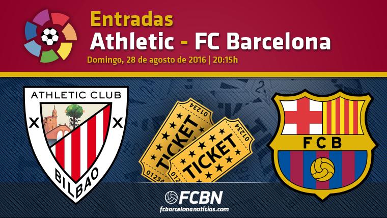Entradas Athletic Bilbao vs FC Barcelona