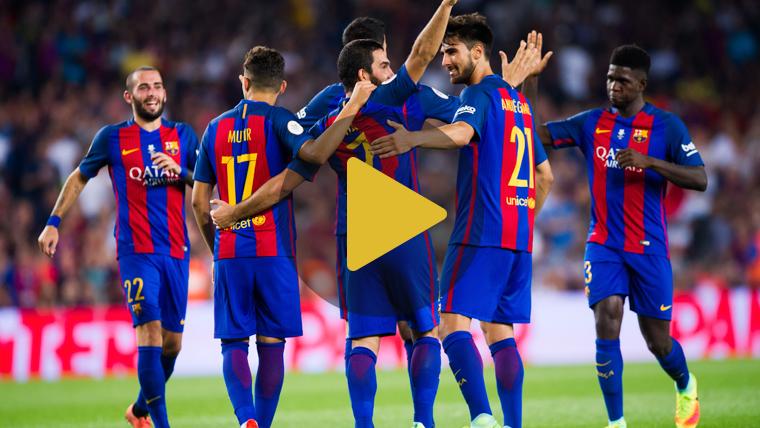 V�deo resumen: FC Barcelona 3 Sevilla 0 (Supercopa)