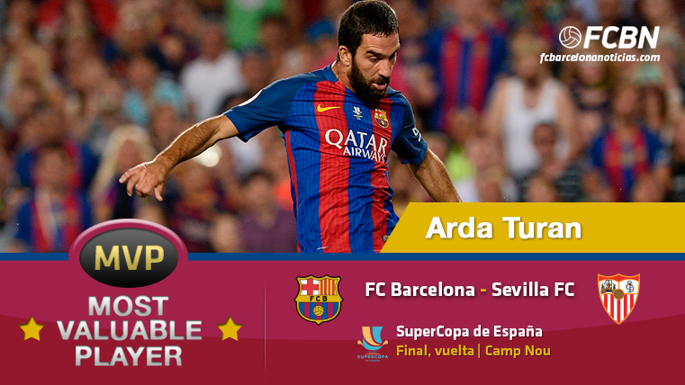 Arda Turan, el MVP del FC Barcelona-Sevilla FC